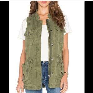 Sanctuary anthropologie green fall utility vest